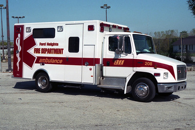 FORD HEIGHTS FD  AMBULANCE 208  FREIGHTLINER