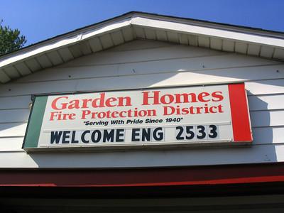 GARDEN HOMES SIGN OVER THE DOOR
