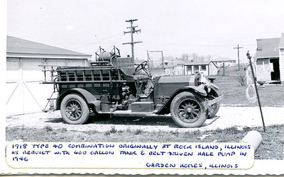 GARDEN HOMES FD  ENGINE  1918  ALFCO TYPE 40  X- ROCK ISLAND FD IL