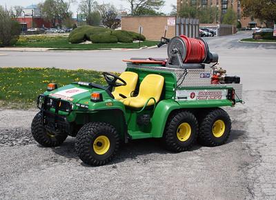 GLENWOOD FD BRUSH 428  JOHN DEERE GATOR - KINTEK  ATV   HP-55