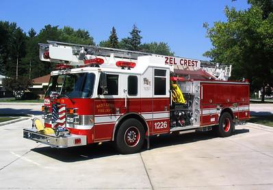 HAZEL CREST FD  ENGINE 1226  1995  PIERCE LANCE   1500-500-6' SKYBOOM   #16500   WHITE ROOF