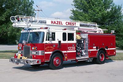 HAZEL CREST FD  ENGINE 1228  1991  PIERCE LANCE   1500-500-50' TSQRT (2)
