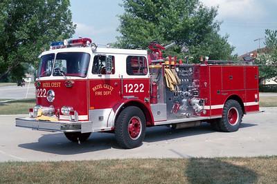 HAZEL CREST FD  ENGINE 1222  1973  SEAGRAVE   1500-500     73849   WHITE OVER RED