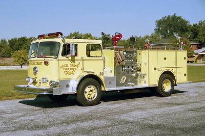 HAZEL CREST FD  ENGINE 1222  1973  SEAGRAVE   1500-500   LIME GREEN