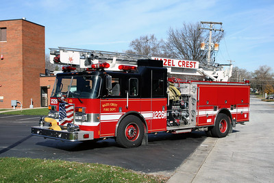 HAZEL CREST FD  ENGINE 1226  1995  PIERCE LANCE   1500-500-6' SKYBOOM   #16500