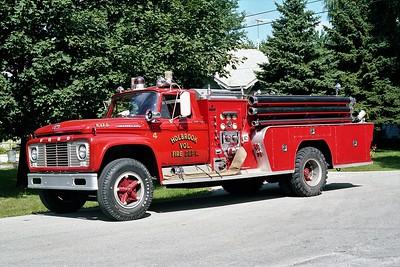 HOLBROOK VFD  ENGINE 354  1958  FORD C-800 - FIRE FIGHTER   500-750