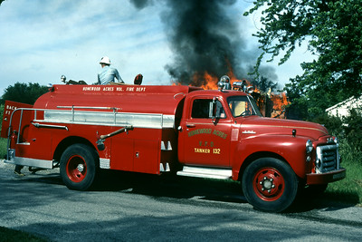 HOMEWOOD ACRES VFD  HOUSE FIRE 6-6-81  GMC TANKER