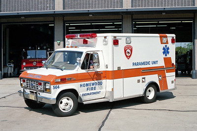 HOMEWOOD  MEDIC 564  1986 FORD E350 - WHEELED COACH