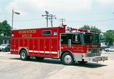 HOMEWOOD SQUAD 546  1989 PEMFAB - 3D  OFFICERS SIDE