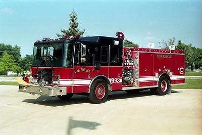 OAK FOREST ENGINE 993   1995 HME - LUVERNE  1500-500   #10628
