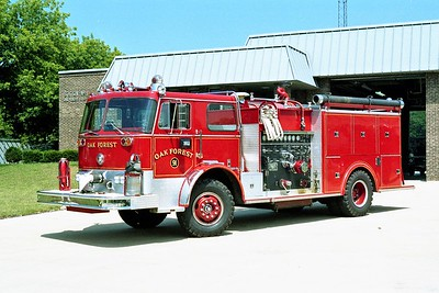 OAK FOREST ENGINE 91   1972 FWD TRACTIONEER - PIERCE  1250-500   7314-C