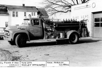 OAK FOREST  ENGINE 93 1956 FORD F-DARLEY