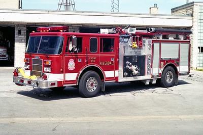 RIVERDALE FD   ENGINE 838  1995  PIERCE SABER   1500-750   E-8771