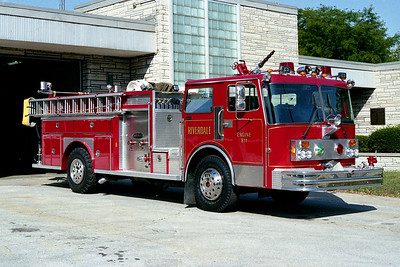 RIVERDALE FD  ENGINE 811  1984  SPARTAN - E-ONE   1250-500   #3342  OFFICERS SIDE
