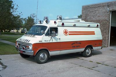SAUK VILLAGE FD  Ambulance 505  1976 Dodge