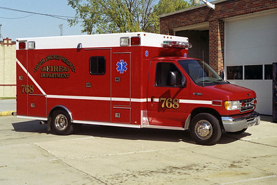 SOUTH CHICAGO HEIGHTS FD  AMBULANCE 768