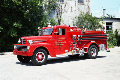 SOUTH CHICAGO HEIGHTS FD  ENGINE 2 HOWE