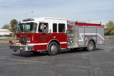 SOUTH CHICAGO HEIGHTS FD  ENGINE 762  SPARTAN CRIMSON