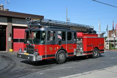 THORNTON FD  TRUCK 45  1996  HME 1871 - CUSTON FIRE   1500-500-50' TSQRT   0N THE RAMP
