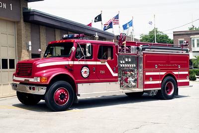 THORNTON FD  ENGINE 730  1992  IHC 4900 - FIRE MASTER   1500-750