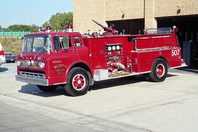 WORTH FD ENGINE 507  1969 FORD C - DARLEY   1000-750   SIDE VIEW  #399-B