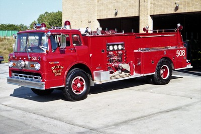 WORTH FD ENGINE 508  1969 FORD C - DARLEY   1000-750   SIDE VIEW  #399-A (2)