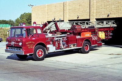 WORTH FD  LADDER 506  1964  FORD C800 - ALFCO   1000-300-75' MIDMOUNT
