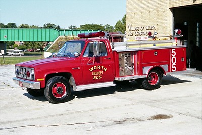 WORTH FD  ENGINE 505  1981  GMC - E-ONE   250-250   #1954