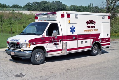 WORTH FD  AMBULANCE 6702 1992  FORD E350 - ROAD RESCUE