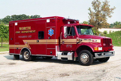 WORTH FD  AMBULANCE 6712  1999 IHC 4700-ROAD RESCUE  BF