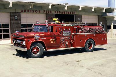 ADDISON FPD  SQUAD 108  1961 GMC-HOWE   750-500