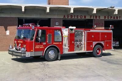 ADDISON FPD  ENGINE 101  1985  E-ONE HURRICANE  1250-500   #4209