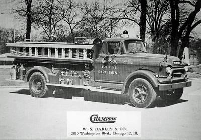 ADDISON FPD  ENGINE  1956  GMC-DARLEY   750-500   DARLEY AD