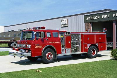 ADDISON FPD  ENGINE 103  1980  FORD C8000 - E-ONE   1250-500   #1437
