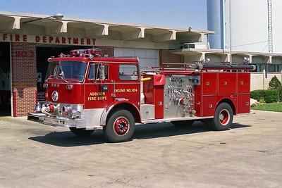 ADDISON FPD  ENGINE 104  1972  FWD - SEAGRAVE  1500-500    B73066