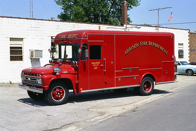ADDISON FPD  SQUAD 107  1965 FORD F-700 - MARION