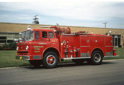 ADDISON FPD  SQUAD 104  1961 FORD C800 - BOYER  500-500