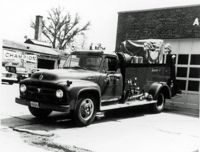 ADDISON FPD  TANKER 2  1950  FORD F7 - DARLEY   500-500