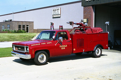 ADDISON FPD  SQUAD 106  1974  CHEVY-STAHL