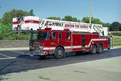 ADDISON FPD  TOWER 114   2003 PIERCE LANCE   100' AP   #14106