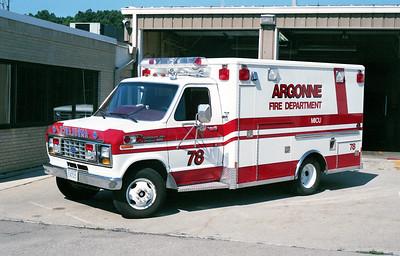 ARGONNE  AMBULANCE 78    1988  FORD E-350 - WHEELED COACH