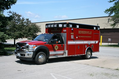 BENSENVILLE FPD  MEDIC 108  2012  FORD F-450 - WHEELED COACH   #311206 (2)