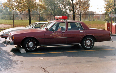 BENSENVILLE FD CAR 71  1980  CHEVY IMPALE  RED