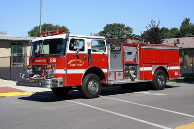 BENSENVILLE FD ENGINE 86  1981 SPARTAN-E-ONE  1500-500   #2061
