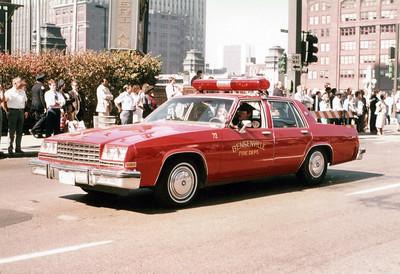 BENSENVILLE FD  CAR 72  1981 BUICK LASABRE