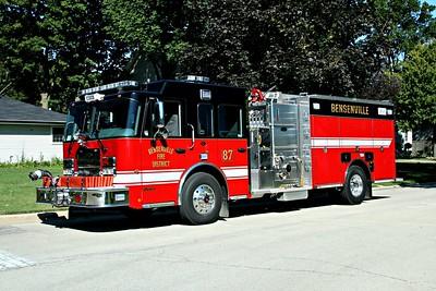 BENSENVILLE FD  ENGINE 87  2011 SPARTAN METRO STAR - TOYNE  1500-750   #TD-9593
