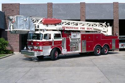 BENSENVILLE FD  TRUCK 90  1975  PEMFAB - PIERCE - LTI   1500-200-85' TL   #8113-C