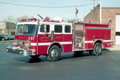 BENSENVILLE FD  ENGINE 87  1985  SPARTAN - E-ONE   1500-750   #4035   1994  RPI REHAB
