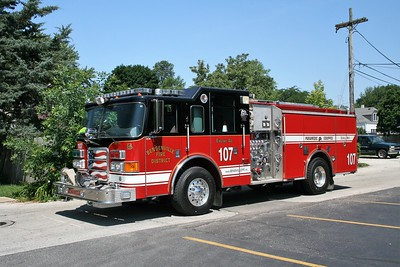 BENSENVILLE FPD  ENGINE 107  2006  PIERCE ENFORCER   1500-750-20F   #17593