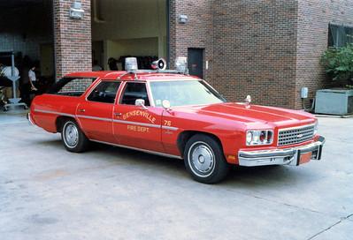 BENSENVILLE FD   CAR 76  1976 CHEVY IMPALA STATION WAGON
